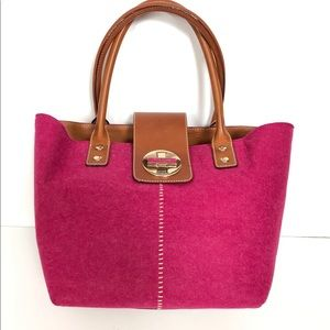 New kate spade lightweight fabric leather tote